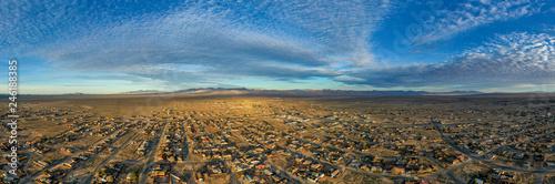 sunset over desert city - 246188385