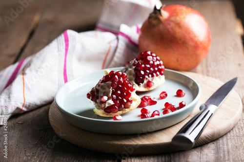 Leinwandbild Motiv beautiful big pomegranate