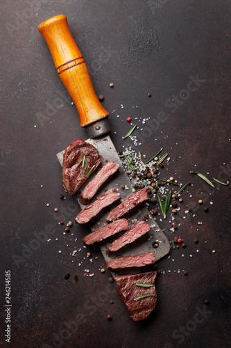 Leinwanddruck Bild Top blade or denver steak