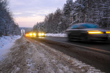 image of Car on a winter road