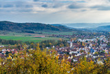 Germany, Idyllic pretty village of rudersberg from above - 246230377