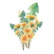 bouquet of watercolor dandelions - 246232975