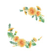 round frame of dandelions