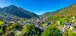 Leinwanddruck Bild - Aerial view of Encamp, Andorra