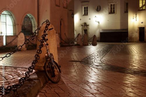 Mariacki Square by night, Krakow, Poland