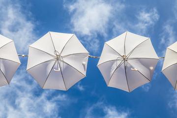 Decorative umbrellas in La Spezia, Liguria (Italy)