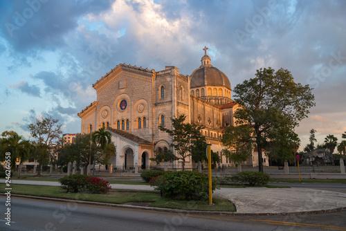 fototapeta na ścianę Church of Jesus de Miramar in Romanesque-Byzantine style is the second largest church on the island. Havana. Cuba