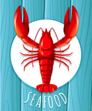 A red lobster on the plate