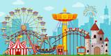 Fun amusement park background - 246284327