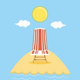 seascape beach with chair scene