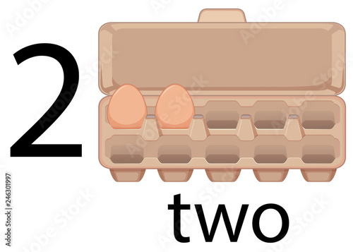 Two egg in preschool, school,