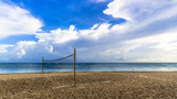 Volleyball court on the Cuban coast - 246314170
