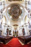 interior of pilgrimage church, Maria Dreieichen, Lower Austria, - 246320911