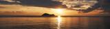 Sunset on a tropical sea. Ocean landscape. Thailand