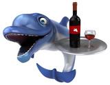 Fun dolphin - 3D Illustration - 246351342