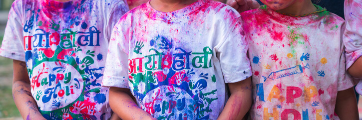 Holi Festival Celebration, Pokhara, Nepal, Asia