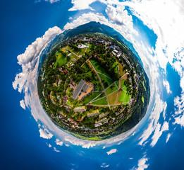 Zakopane  panorama Tatry little planet dron