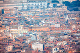 District aerial view of Rome city  - 246373187