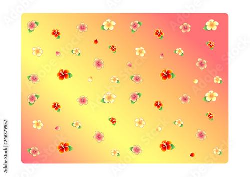 Illustration classic vintage flower pattern - 246379957