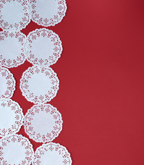 abstract background of white lace paper figures