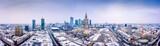Zimowa panorama Warszawy