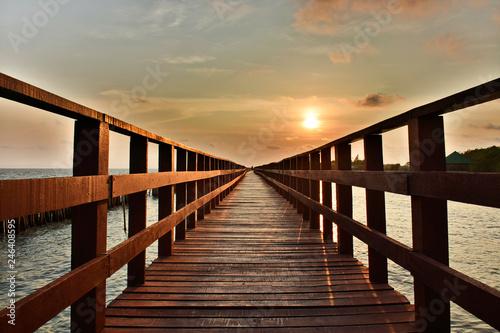 Thailand coastal bridge  © tawunap159