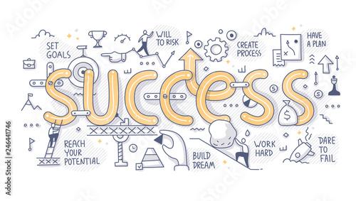 Success Word Doodle Concept