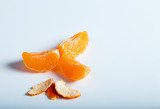 Slices of tangerine,mandarin isolated on white background