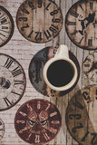 A wonderful morning coffee on a decorative background
