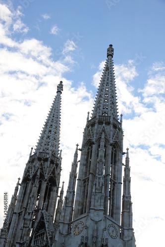 fototapeta na ścianę Bell tower of Votive Church in Vienna Austria also called Votivk