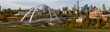 Edmonton, Alberta, Canada - September 25, 2018: Panoramic view of the beautiful modern city during a sunny day.