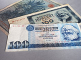 Vintage withdrawn banknotes of DDR and German Empire - 246497746
