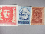 Vintage withdrawn banknotes of CCCP, DDR, Cuba
