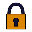 close padlock security