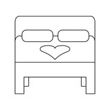 Honey moon bed symbol black and white