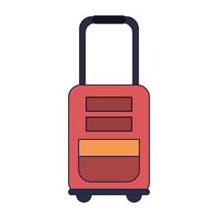travel luggage isolated