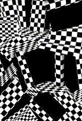 Abstract geometric background from black and white figures