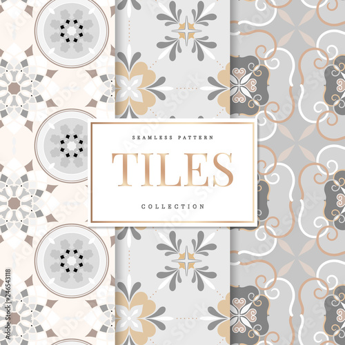 Floor tiles set illustration