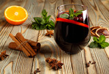 Red wine with spices.