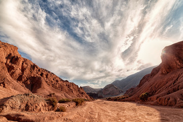 Rainbow Valley with Clouds, Atacama Desert Chile