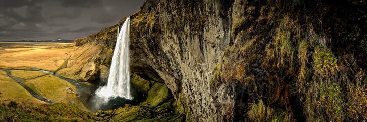 Panorama Seljalandsfoss Iceland