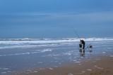 Angel an der Nordsee im Winter