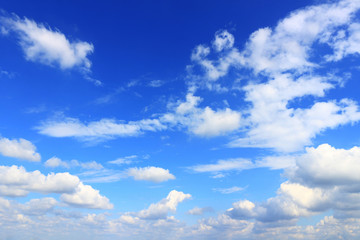 Scenery of the cloud spreading in the sky