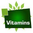Vitamins Leaves Circular Squares Text