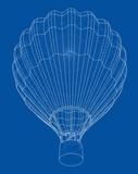 Outline hot air balloon - 246593966