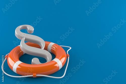 Leinwanddruck Bild Paragraph with life buoy