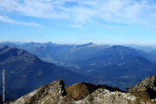 fototapeta na ścianę Allgäuer Alpen - Blick vom Nebelhorn