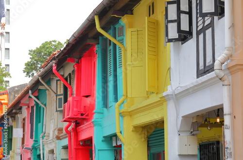 Haji Lane colourful old house Singapore
