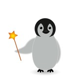 magic penguin with magic weapon