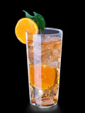 drink with orange and ice